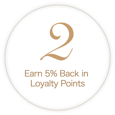 Earn 5% Back in Loyalty Points