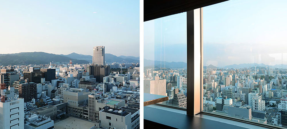 Panoramic views of the Setouchi Islands and the city of Hiroshima