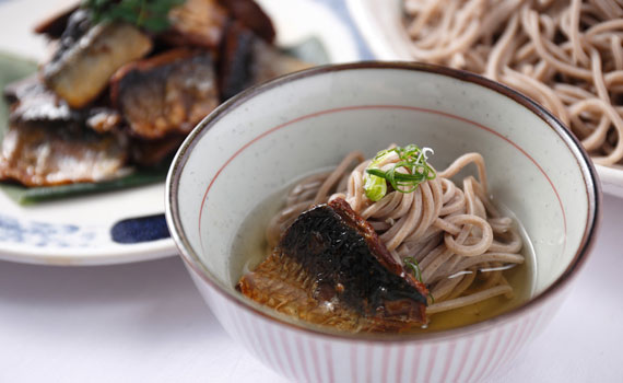 Nishin soba (buckwheat noodles topped with broiled herring) have been a Kyotoite favorite for centuries